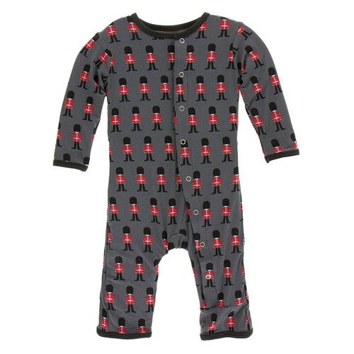 Kickee Pants Print Coverall with Snaps - Queen's Guard