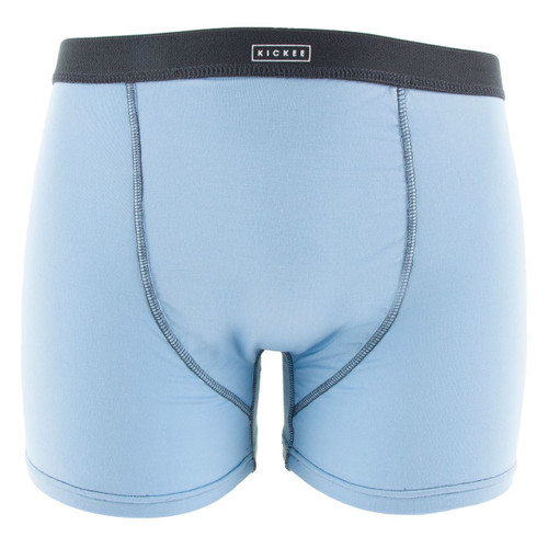 Kickee Pants Solid Men's Boxer Brief - Pond with Stone