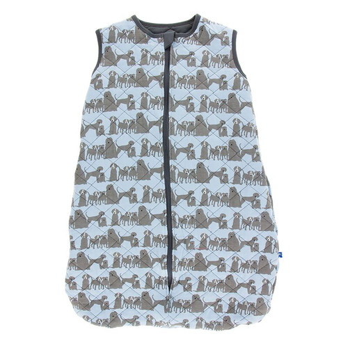 Kickee Pants Printed Quilted Sleeping Bag - London Dogs/Stone
