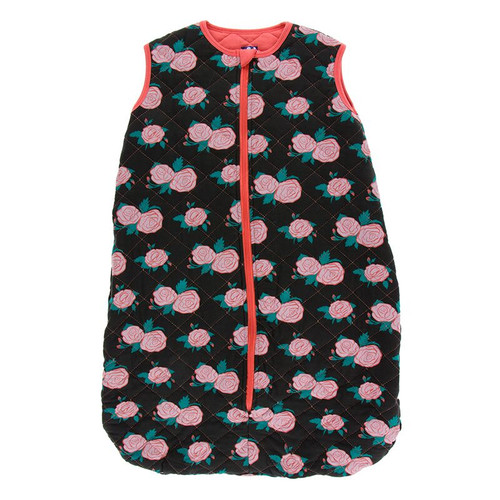 Kickee Pants Printed Quilted Sleeping Bag - English Rose Garden/English Rose