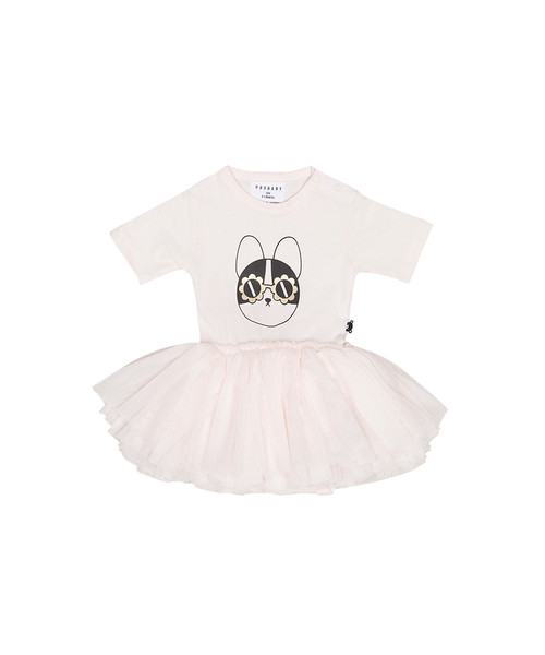 Huxbaby Organic Cotton Frenchie L/S Ballet Onesie