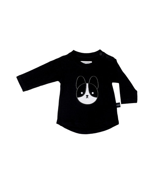 Huxbaby Organic Cotton Frenchie Applique Top