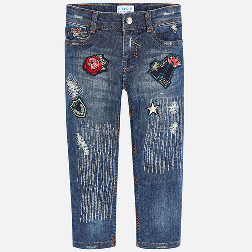 Mayoral Girl Pants - Denim