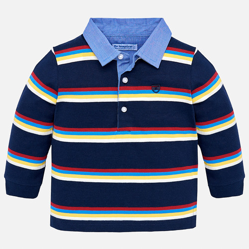 Mayoral Baby Boy Striped Polo - Eclipse