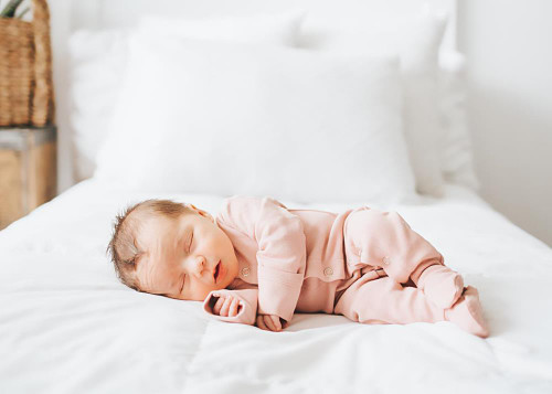 L'ovedbaby 100% Organic Cotton Footed Overall - Blush