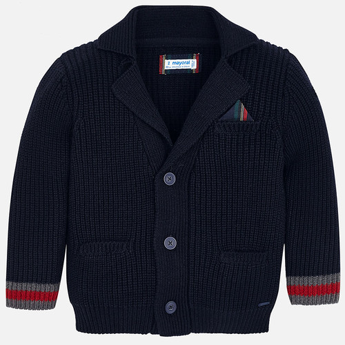 Mayoral Boys Knit Cardigan - Dark Navy