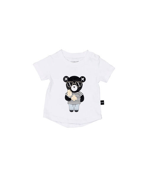 Huxbaby Organic Cotton Spade Bear Drop Back T-Shirt