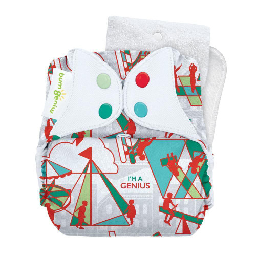 bumGenius Freetime All-in-One Cloth Diaper - Play