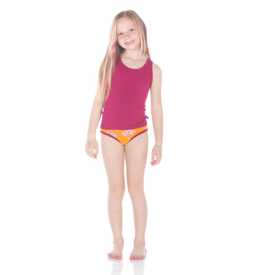 Kickee Pants Girl Underwear Set of 2 - Dragonfruit Lantern Festival  & Apricot Fans