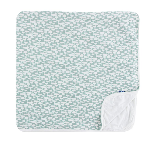 Kickee Pants Print Toddler Blanket - Jade Mushrooms