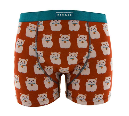 Kickee Pants Print Men's Boxer Brief - Lucky Cat