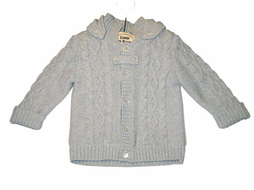 Emile et Rose Gray Sweater Knit Lined Jacket - Finn