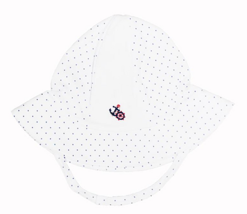 Kissy Kissy 100% Peruvian Pima Cotton Scattered Harbor Lights Print Sunhat - Large