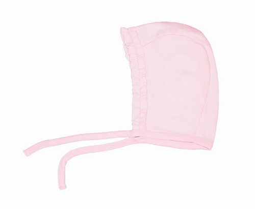 Kissy Kissy 100% Peruvian Pima Cotton Pink Basics Bonnet - Small
