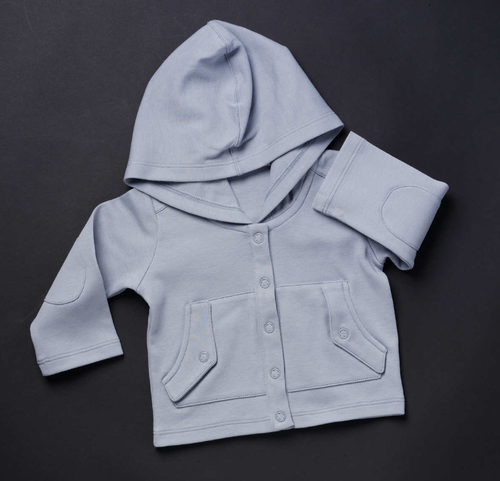 TANE Hooded Jacket with Pockets - Blue Dusk