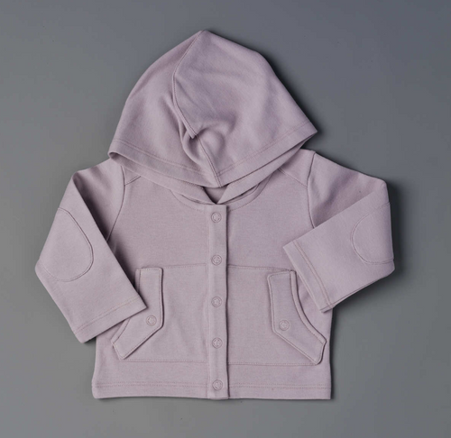 TANE Organic Hooded Jacket with Pockets - Lavendermoon