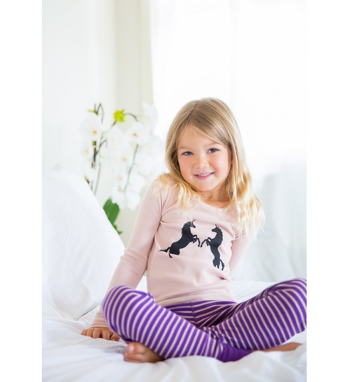 Skylar Luna Unicorn Long Sleeves Pajamas