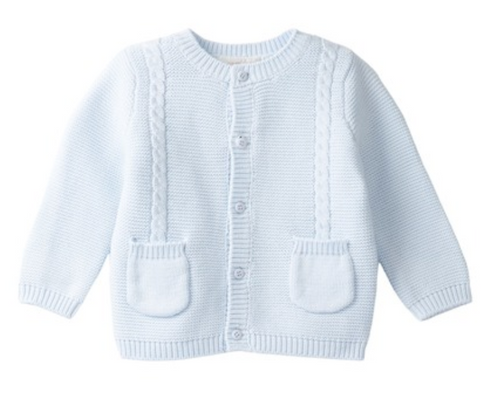 Angel Dear Blue Cable Cardigan