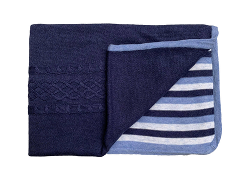 Angel Dear Blue Heather Mendocino Blanket