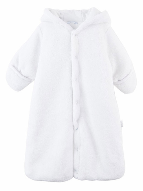 Le Top Baby White Hooded Plush Baa Baa Baby Snuggle Bag