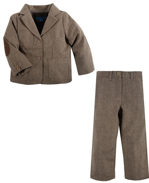 Andy & Evan The Apollo Tweed Brown Herrnigbone 2-Piece Set