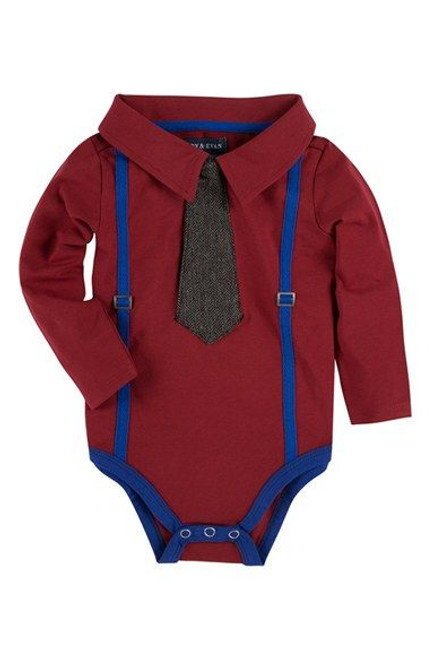 Andy & Evan Cute & Tie Polo Shirtzie - Maroon
