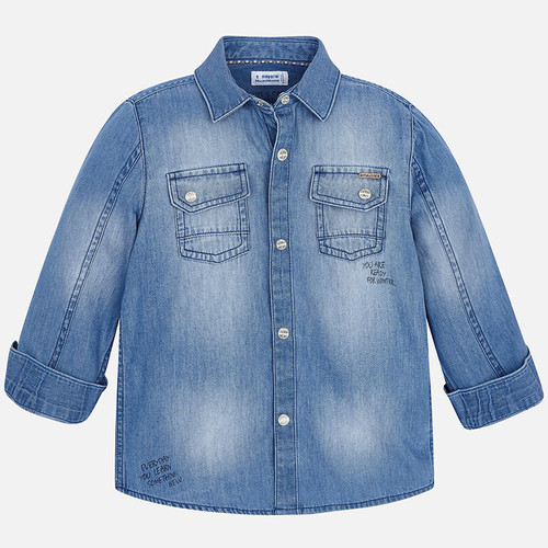 Mayoral Boys Shirt - Denim