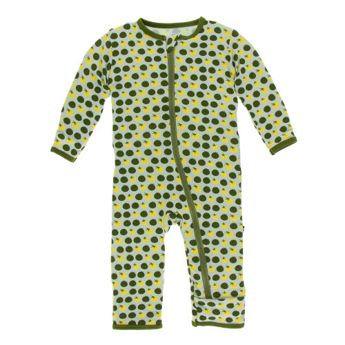 Kickee Pants Print Coverall with Zipper - Aloe Tomatoes