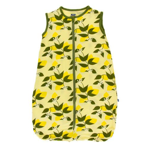 Kickee Pants Lightweight Sleeping Bag - Lime Blossom Lemon Tree