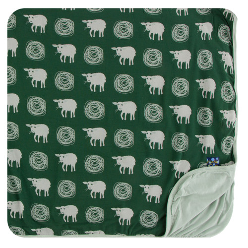Kickee Pants Print Toddler Blanket - Topiary Tuscan Sheep