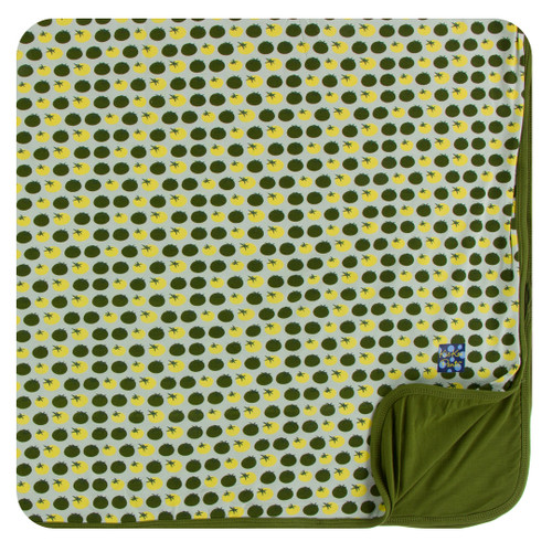 Kickee Pants Print Toddler Blanket - Aloe Tomatoes