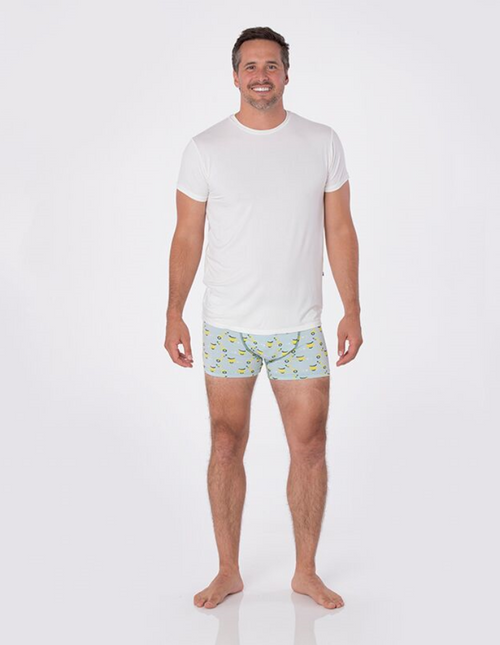 Kickee Pants Print Men's Boxer Brief - Spring  Sky  Scooter