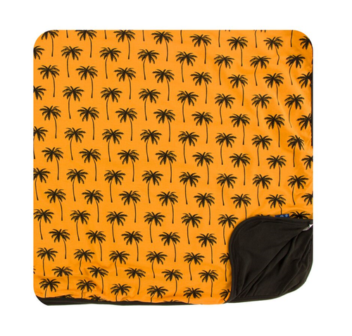 Kickee Pants Cancun Print Toddler Blanket - Apricot Palm Trees