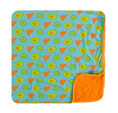 Kickee Pants Cancun Print Toddler Blanket - Avocado, Chips and Lime