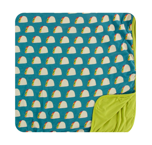Kickee Pants Cancun Print Toddler Blanket - Seagrass Tacos