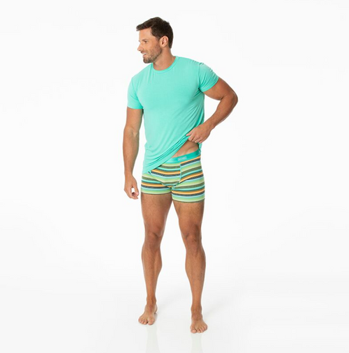 Kickee Pants Cancun Print Men's Boxer Brief - Cancun Glass Stripe