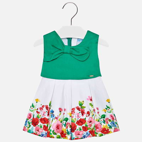 Mayoral Baby Girls Floral Dress - Green