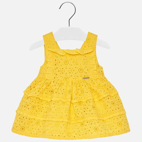 Mayoral Baby Girls Dress - Yellow