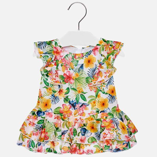 Mayoral Baby Girls Tropical Dress - Geranium