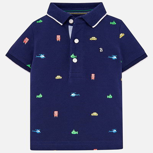 Mayoral Baby Boy Polo - Navy
