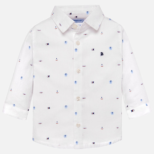 Mayoral Baby Boy L/S Shirt - White