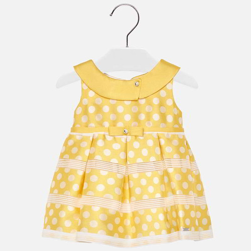 Mayoral Baby Girls Polka Dot Dress - Yellow