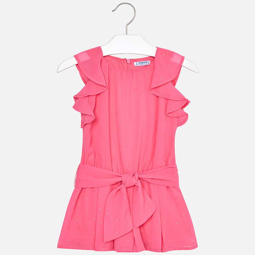 Mayoral Girls Chiffon Playsuit - Bubblegum
