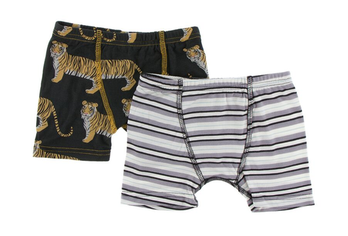 Kickee Pants India Boxer Briefs Set of 2 - Zebra Tiger & India Pure Stripe