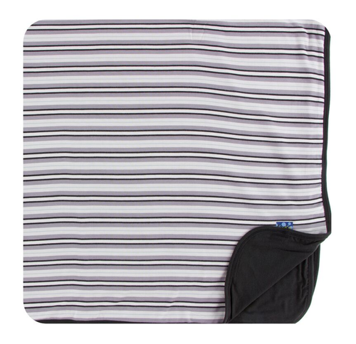 Kickee Pants India Print Toddler Blanket - India Pure Stripe