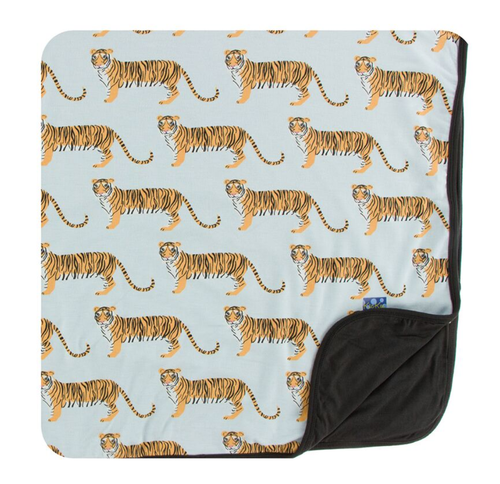 Kickee Pants India Print Toddler Blanket - Spring Sky Tiger