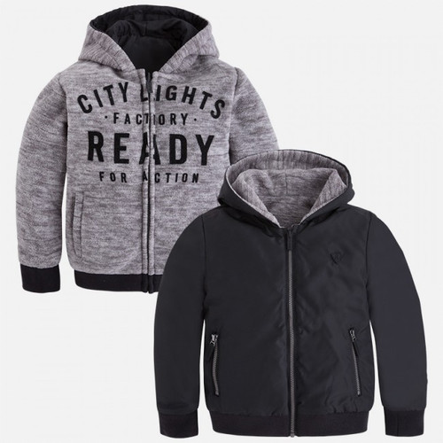 Mayoral Boys Reversible Jacket - Black/Grey