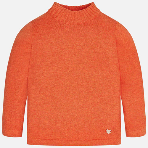 Mayoral Baby Girls Turtleneck - Orange