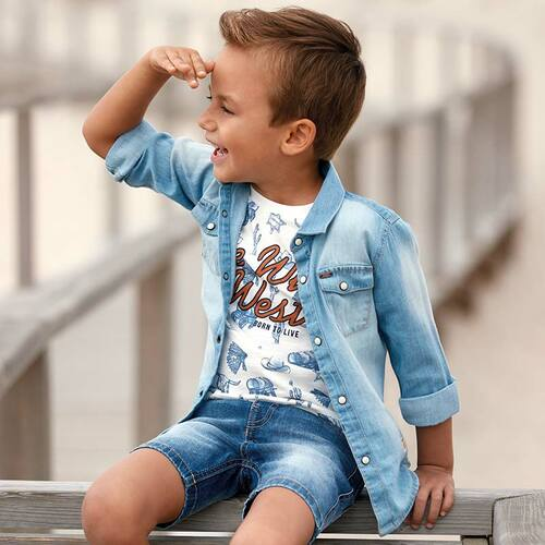 Mayoral Boys Denim Shirt - Light