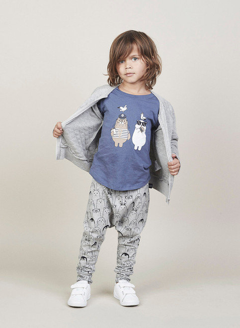 Huxbaby Organic Polar Bear and Walrus T-Shirt